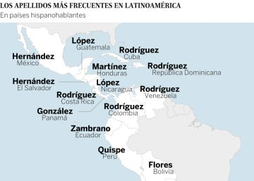 Interactivo | Los apellidos más comunes de Latinoamérica