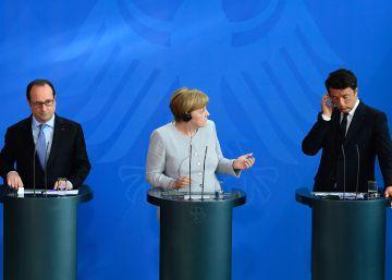 Renzi, Hollande y Merkel se reúnen para reforzar su estrategia de seguridad