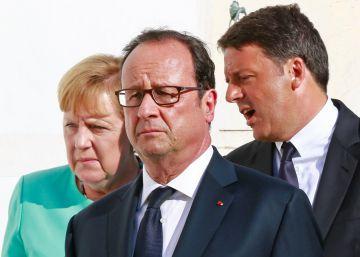 Merkel, Hollande y Renzi debaten una estrategia común ante el 'Brexit'