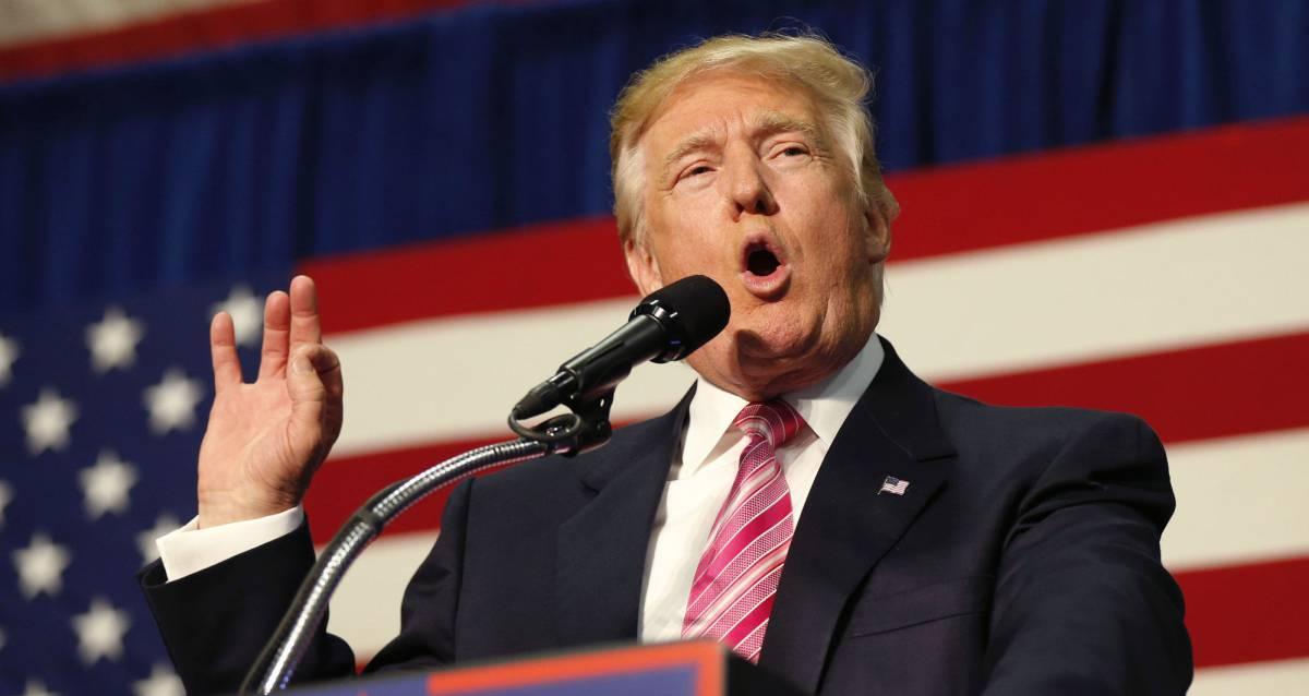 Donald Trump en un mitin este sábado en Virginia