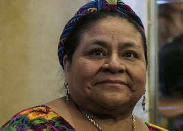 La Premio Nobel de la Paz Rigoberta Menchú en Buenos Aires.