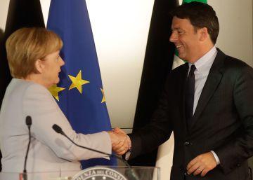 Renzi y Merkel piden la expulsión de migrantes