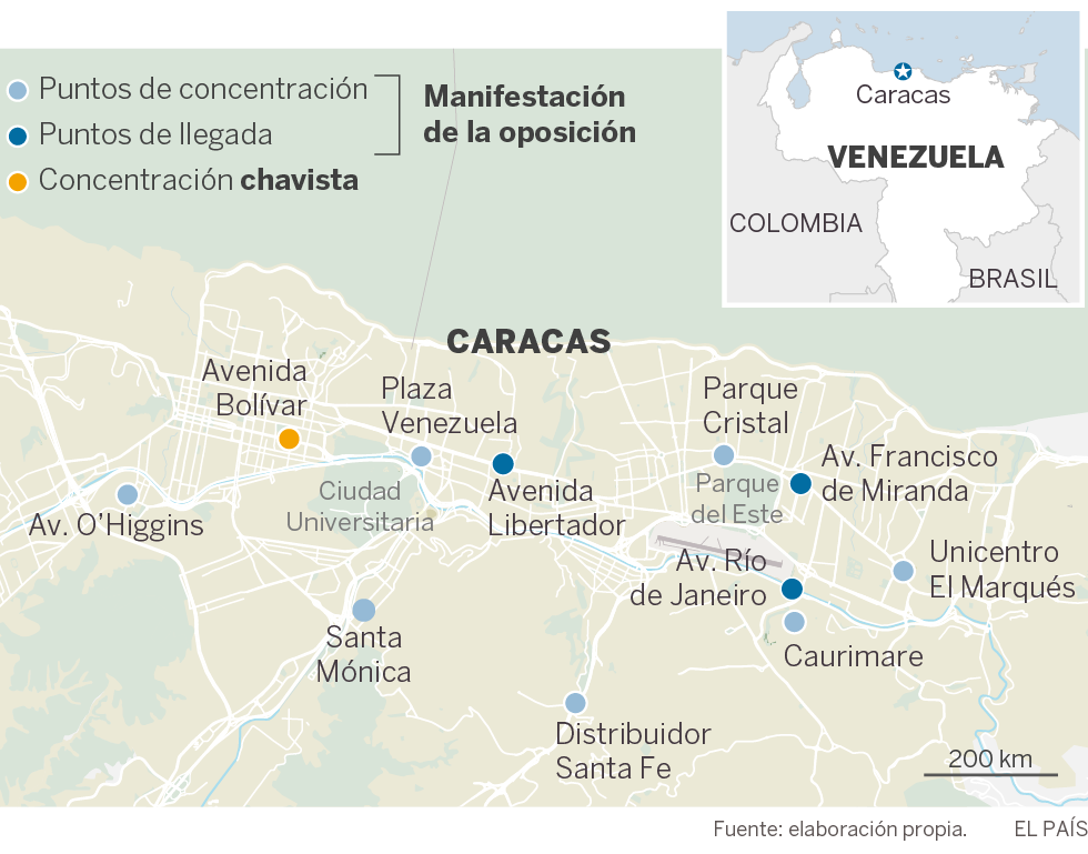 La oposición venezolana exhibe músculo y presiona más a Maduro