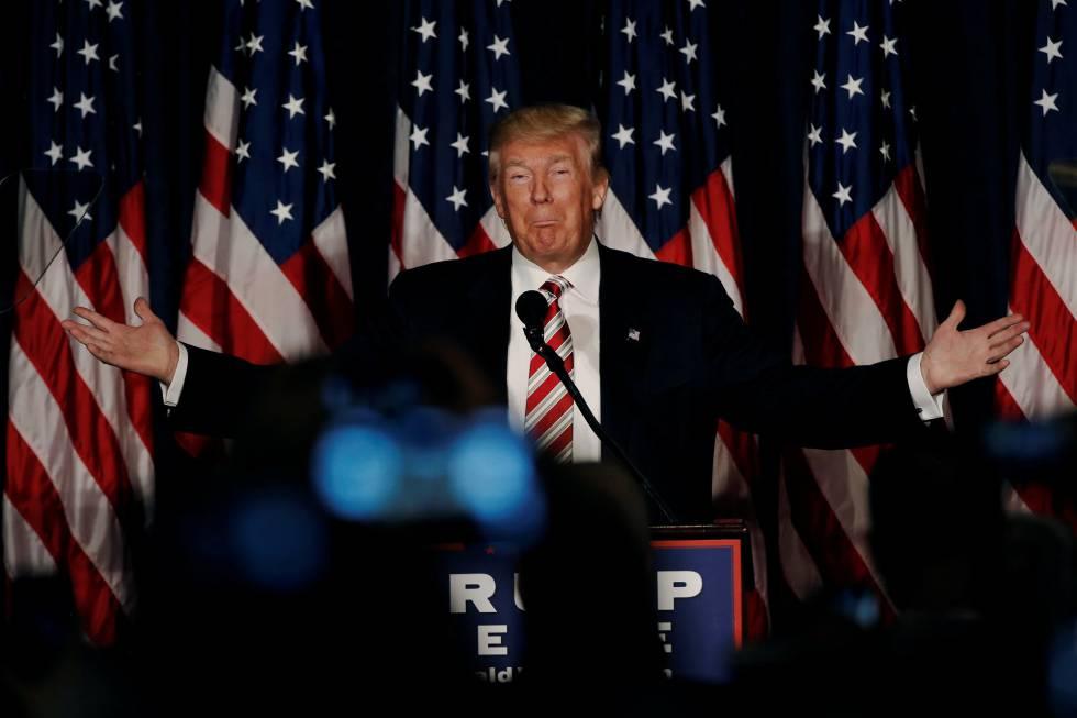 El candidato republicano, Donald Trump, este miércoles en Filadelfia.