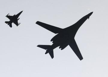 Uno de los dos bombarderos desplegadas por el Ejército de Estados Unidos en Corea del Sur.