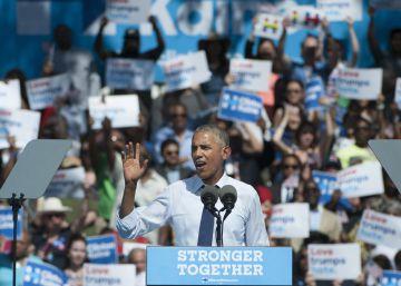 Obama electriza al electorado de Clinton en Filadelfia