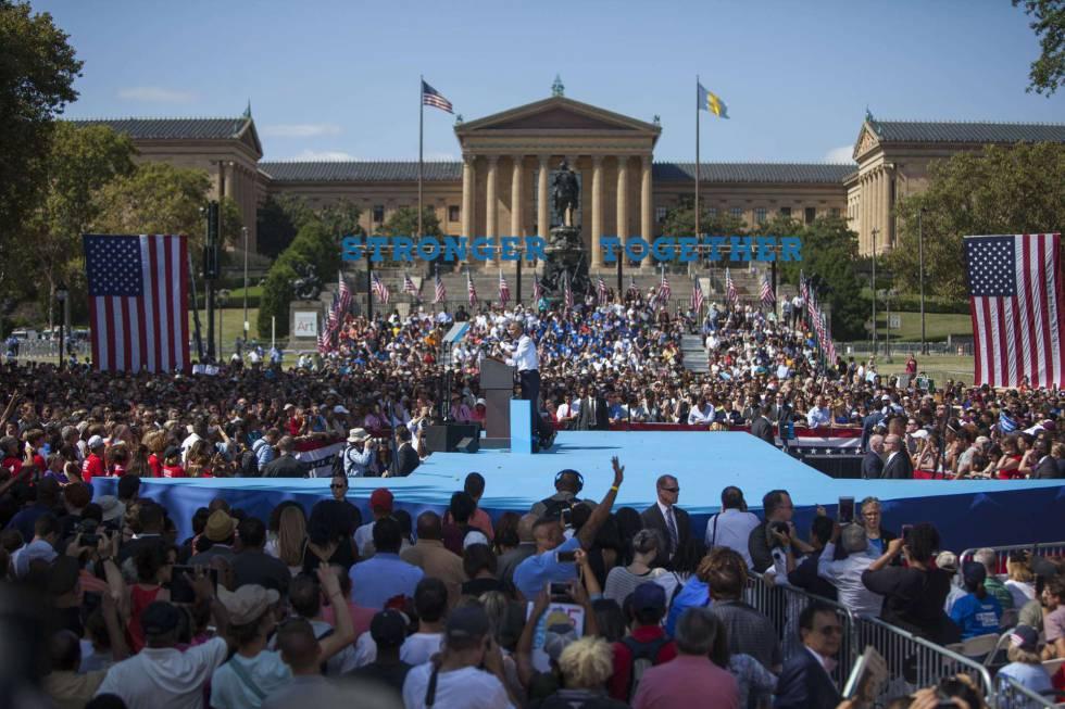Obama, este martes en Filadelfia