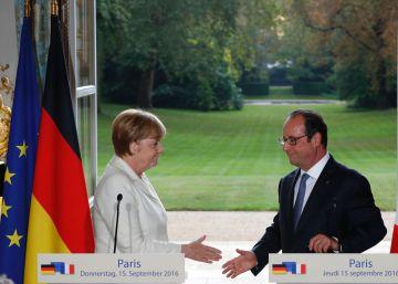 Hollande y Merkel fijan marzo de 2017 como límite para pactar la nueva Europa