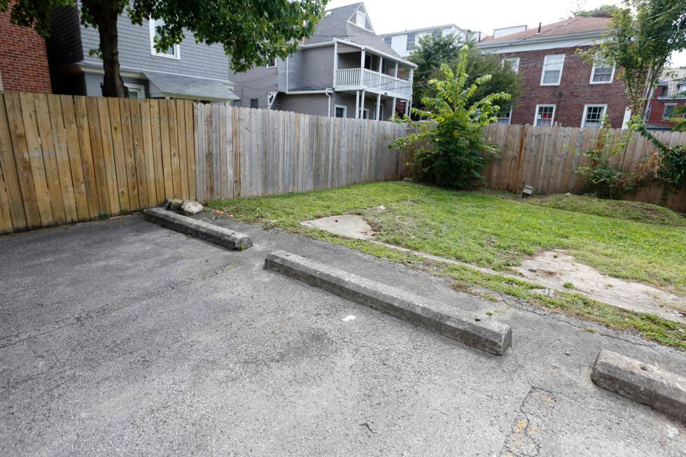 O lugar onde Tyree King morreu em Columbus, Ohio.