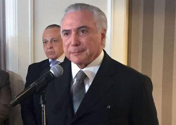 Temer pide en Nueva York que se vuelva a confiar en Brasil