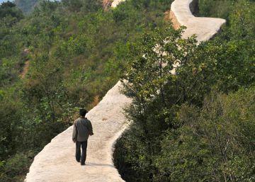La 'reparación' de la Gran Muralla china con cemento indigna al país