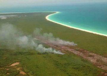 El incendio en el paraíso natural de Holbox fue provocado
