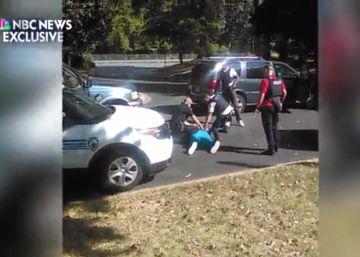 """Los ruegos de la esposa del hombre negro disparado en Charlotte: """"¡No va armado!"""""""