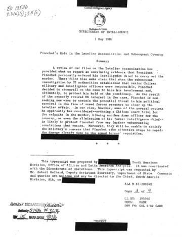 El documento publicado este viernes por el gobierno estadounidense.
