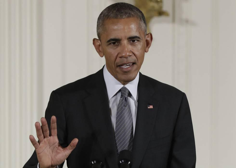 El presidente Obama durante un acto en la Casa Blanca.