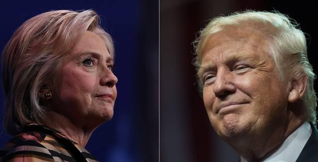 Los candidatos presidenciales, Hillary Clinton y Donald Trump.