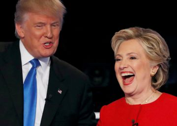 Republican U.S. presidential nominee Donald Trump shakes hands with Democratic U.S. presidential nominee Hillary Clinton at the conclusion of their first presidential debate at Hofstra University in Hempstead, New York, U.S., September 26, 2016. REUTERSMike Segar     TPX IMAGES OF THE DAY