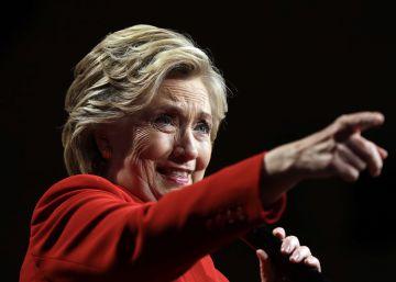 La candidata demócrata, Hillary Clinton, tras el primer debate presidencial