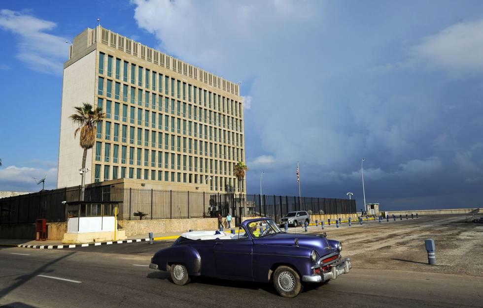 La embajada de Estados Unidos en La Habana, Cuba