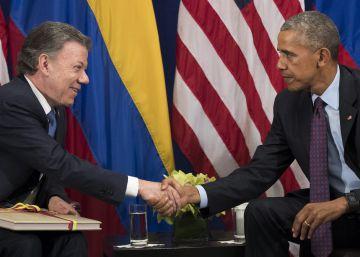 El presidente Santos entregó a Obama el acuerdo de paz en Nueva York