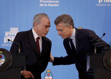 Temer busca a Macri como gran aliado para su giro liberal