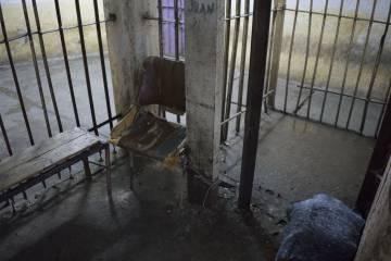 Una celda abandonada en el penal de Olmos.