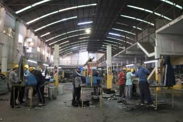 El taller en el que los reclusos trabajan a diario.