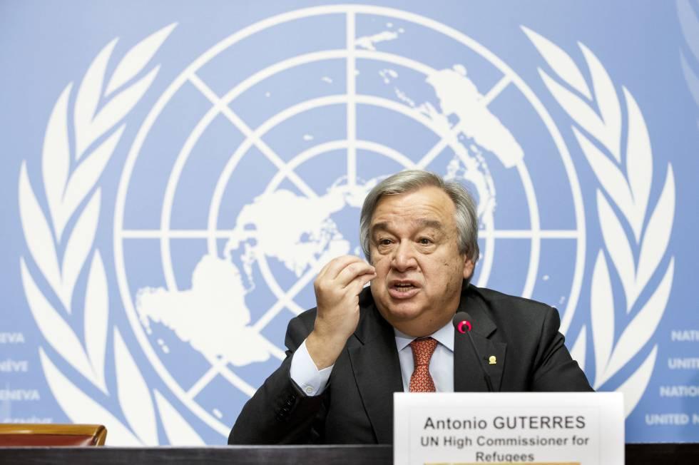 Guterres en la ONU en diciembre pasado, cuando era jefe de ACNUR.