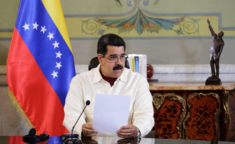 Nicolás Maduro en Miraflores el pasado martes.