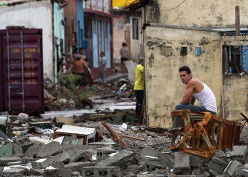 El paso del huracán Matthew deja en ruinas a Baracoa, Cuba