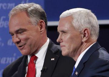 Pence adopta en el debate el tono presidencial que le falta a Trump