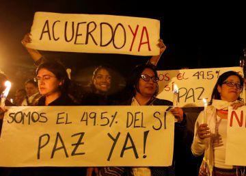 Miles de personas marchan en Colombia para que se apruebe el acuerdo de paz