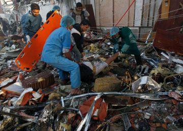 Unos 140 muertos en un bombardeo en la capital yemení