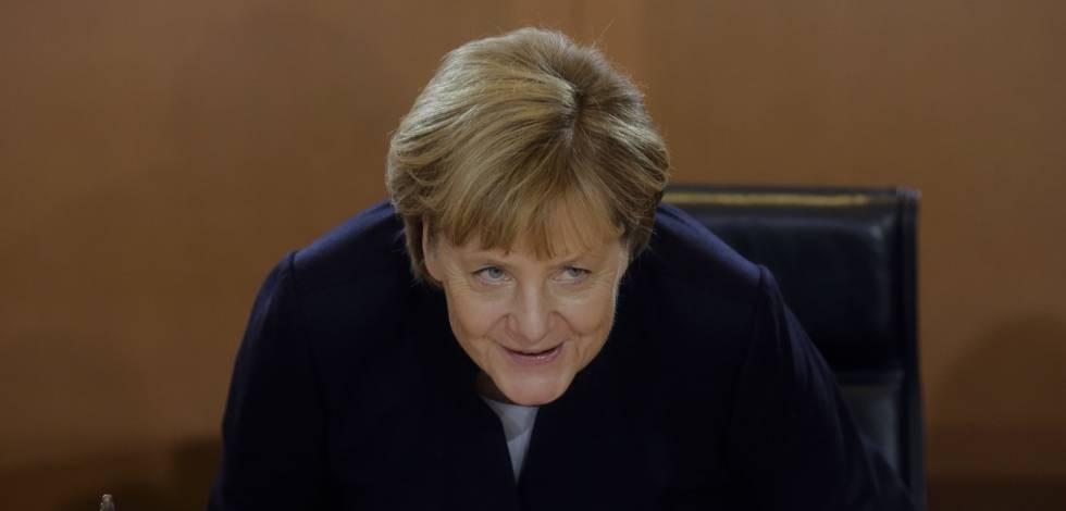 La canciller Angela Merkel, en el Consejo de Ministros celebrado el 12 de octubre en Berlín.