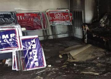 Destruida con bombas incendiarias una sede del Partido Republicano en Carolina del Norte