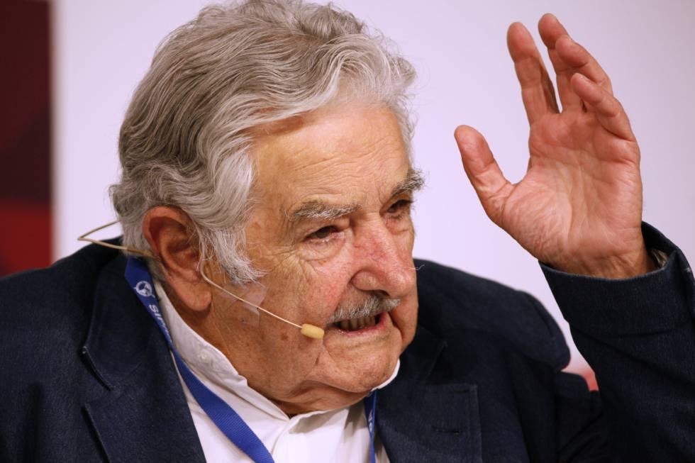 Mujica durante un acto en CDMX