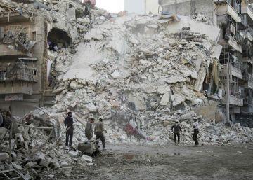 Un bombardeo del régimen sirio en Alepo mata a 14 miembros de una familia