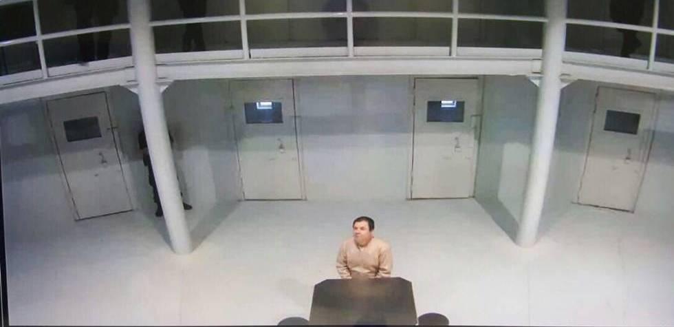 Joaquín Guzmán Loera, 'El Chapo', en la prisión de Ciudad Juárez.