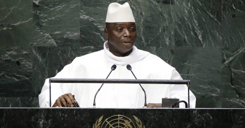El presidente de Gambia, Yahya Jammeh, en la Asamblea General de la ONU, el 25 de septiembre de 2014.