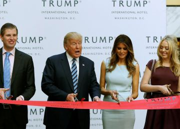 Donald Trump, sus hijos y su esposa inauguran el hotel nuevo de la familia en Washington