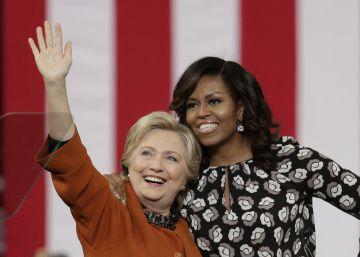 Clinton agradece el apoyo de Michelle Obama en su carrera contra Trump