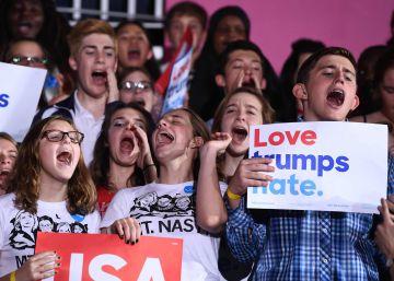 Hillary Clinton recupera apoyos entre los votantes más jóvenes