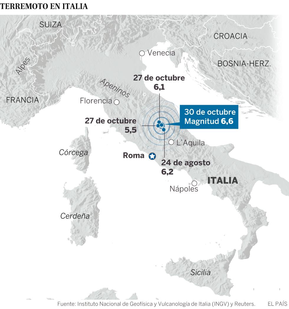 Forte terremoto volta a atingir o centro da Itália