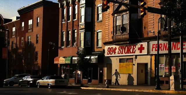 Una calle en Reading, Pensilvania.