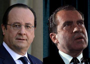 ¿Con qué presidentes compite Hollande como el más impopular?