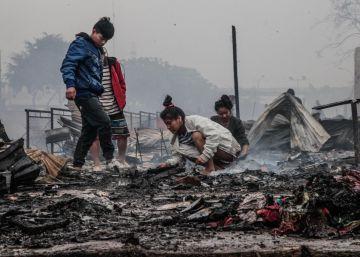 Un incendio consume una comunidad amazónica de Lima