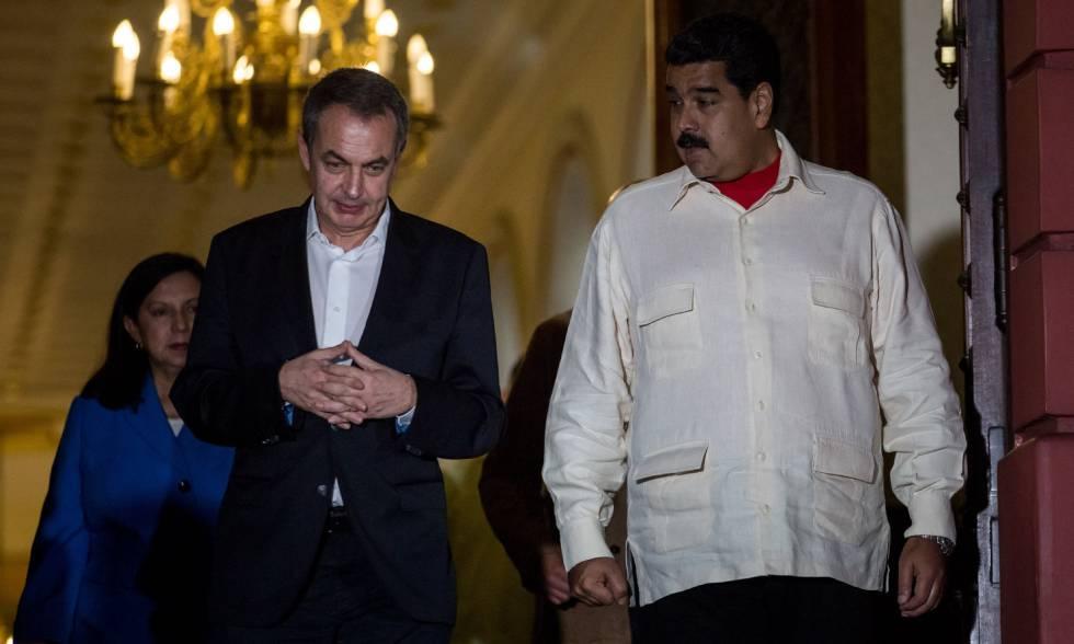 El expresidente José Luis Rodríguez Zapatero y Nicolás Maduro.