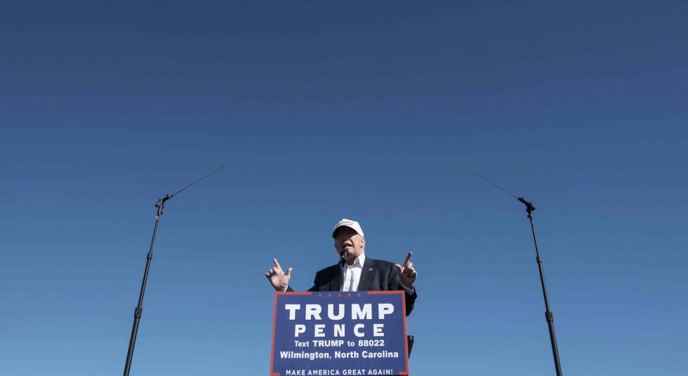 El aspirante republicano a la Casa Blanca, Donald Trump.