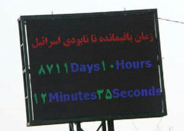 8.711 días, 1 hora, 12 minutos y 25 segundos para la desaparición de Israel