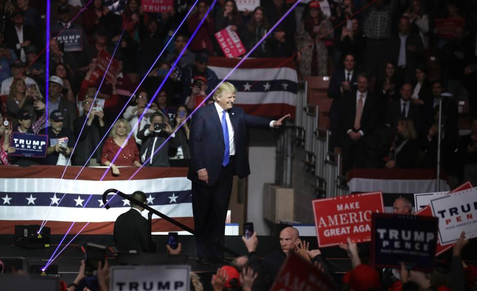 Donald Trump en Manchester, New Hampshire.